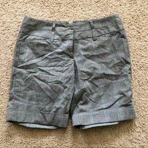Miss Bisou Grey Plaid Shorts 11/12